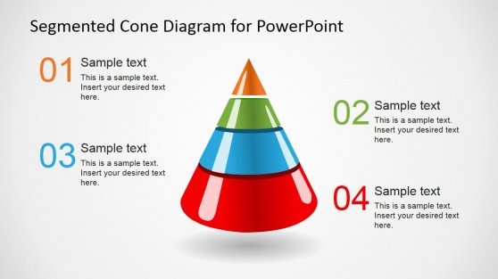 4 Level 3D Segmented Cone Diagram