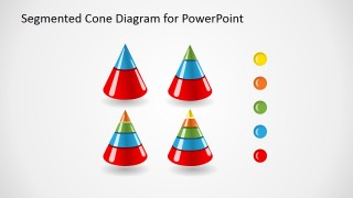 3D Cone Set Picture with Glossy Effect for PowerPoint
