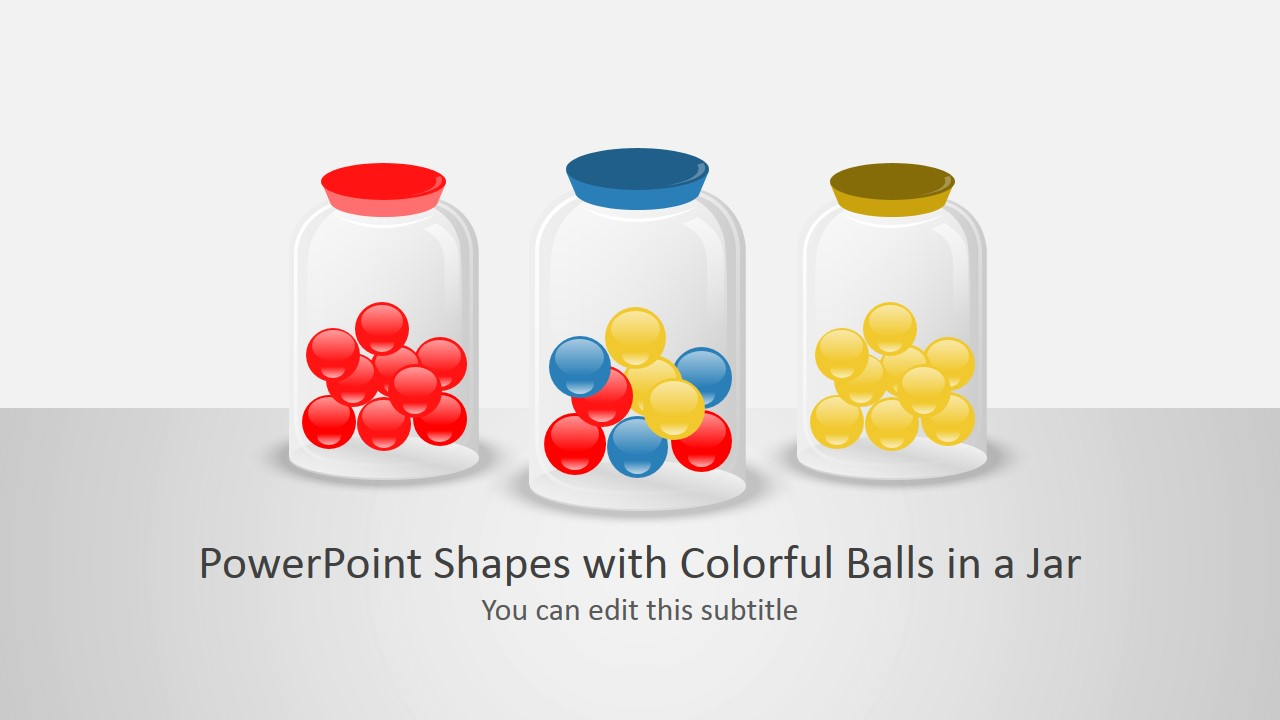 Jar Shapes with Small Colorful Balls