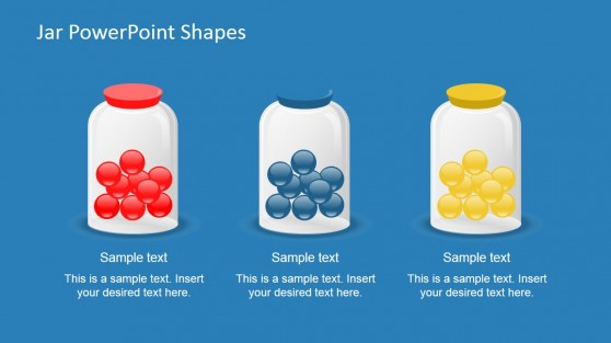 Multi Color Jar Content for PowerPoint