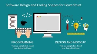 Software Web Design and Coding Clipart Shapes for PowerPoint