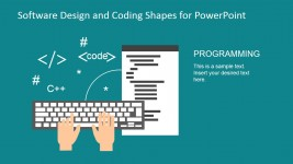 Website Layout IDE Coding PowerPoint Shapes