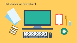 Flat Computer Icons for PowerPoint