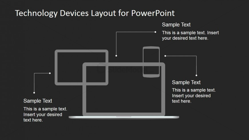 Technology Layout Design for PowerPoint - Dark Background