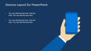 Technology Smartphone in Hand Clipart for PowerPoint