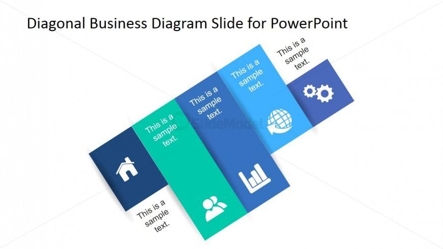 PowerPoint Clipart Diagonal Diagram