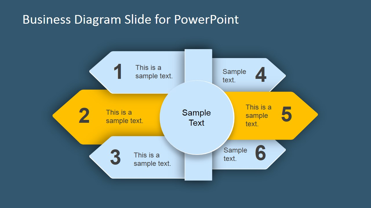 Six Step Arrow Business Diagram for PowerPoint