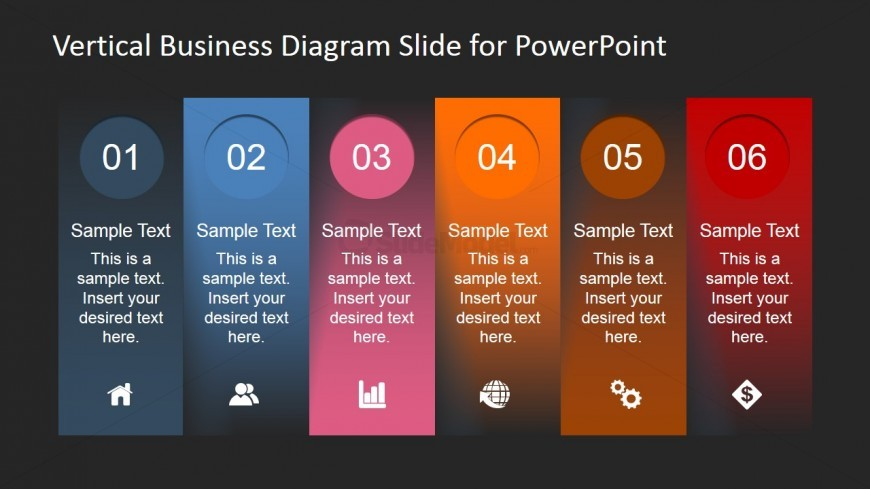 PowerPoint Template for 6 Step Diagram