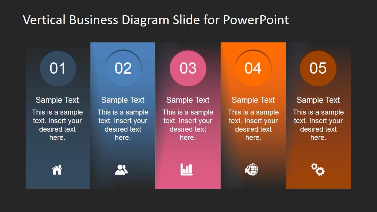 vertical business diagram slide for powerpoint