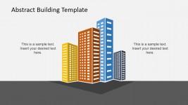 Four Buildings PowerPoint Clipart