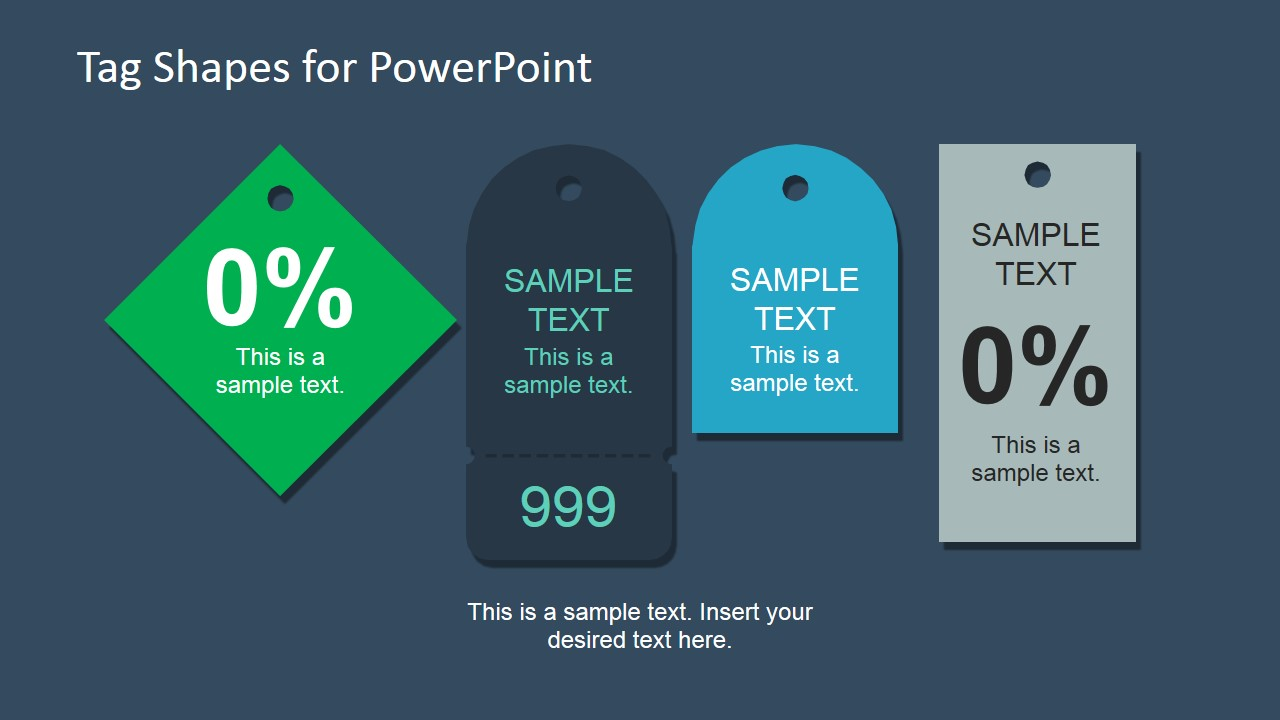PowerPoint Template for Infographic Tags
