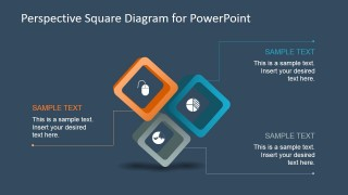 3 Steps Square Diagram Design for PowerPoint