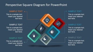 6 Steps Square Diagram Design for PowerPoint