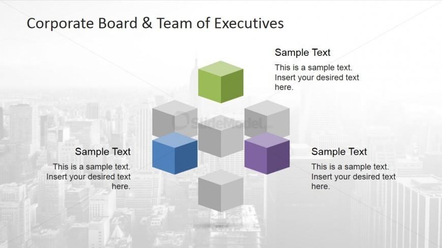 Seven Colored Building Blocks PowerPoint Clip Art