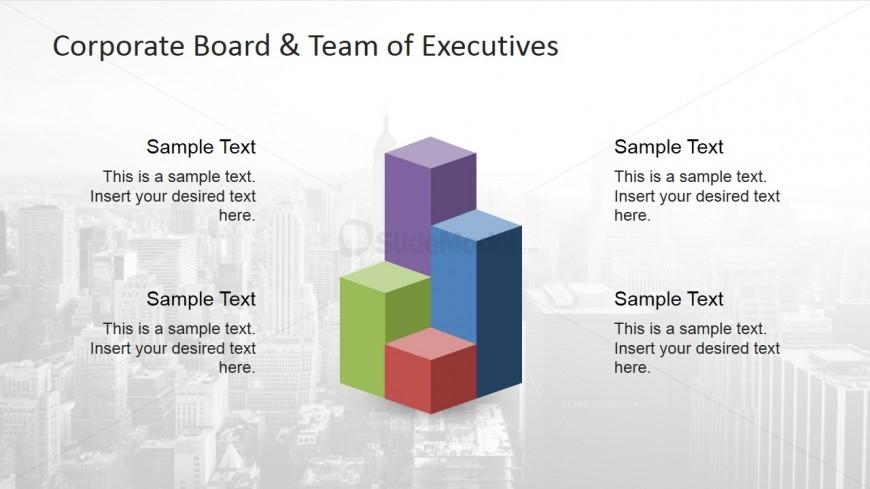 Clip Art Bar Graph Corporate Board PowerPoint Model