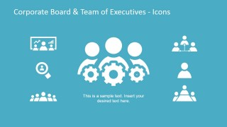 Corporate Board and Team of Executives Icons