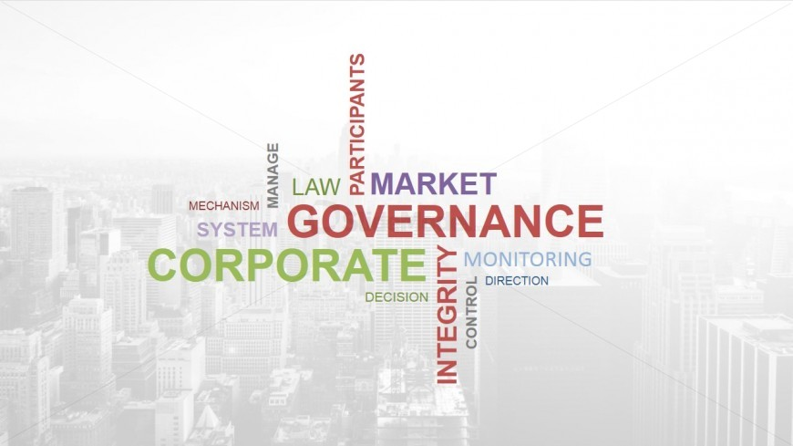 Tag Cloud showing generic corporate buzzwords