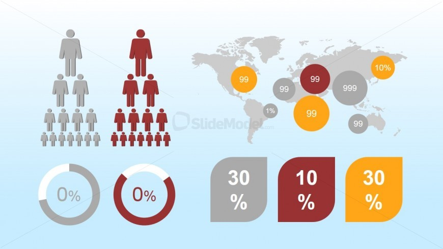 Demographics PowerPoint Icons for Infographics