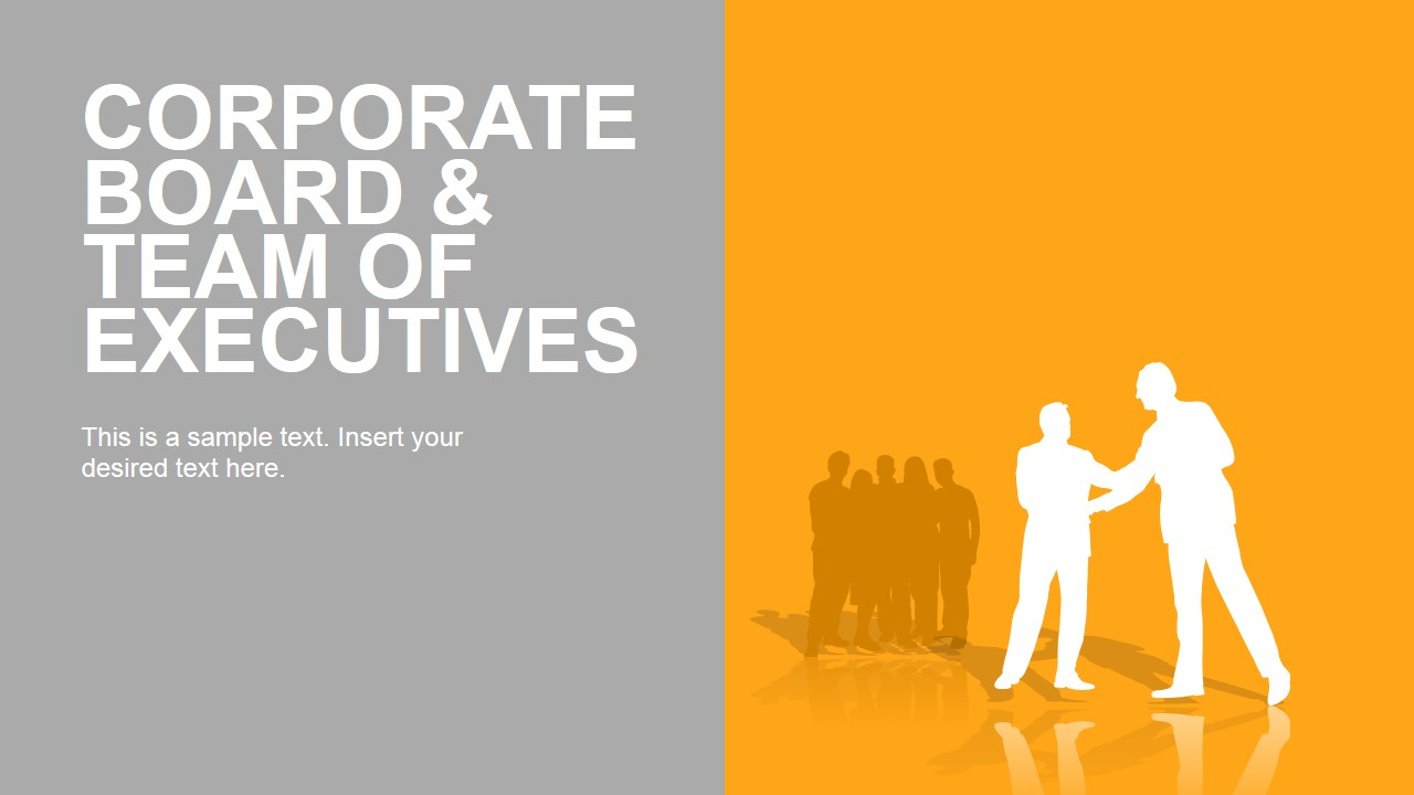 Executive Work Team PowerPoint Shapes