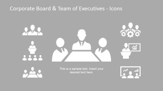 Roles of Executive Team Generic Icons for PowerPoint