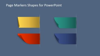 PowerPoint Shapes of Paper Markers to Drag & Drop