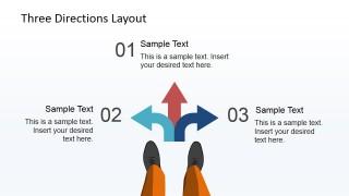 PowerPoint Slide Presenting Three Numbered Paths