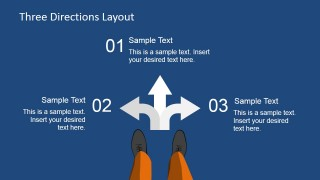 PowerPoint Arrows Pointing Left, Forwards and Right