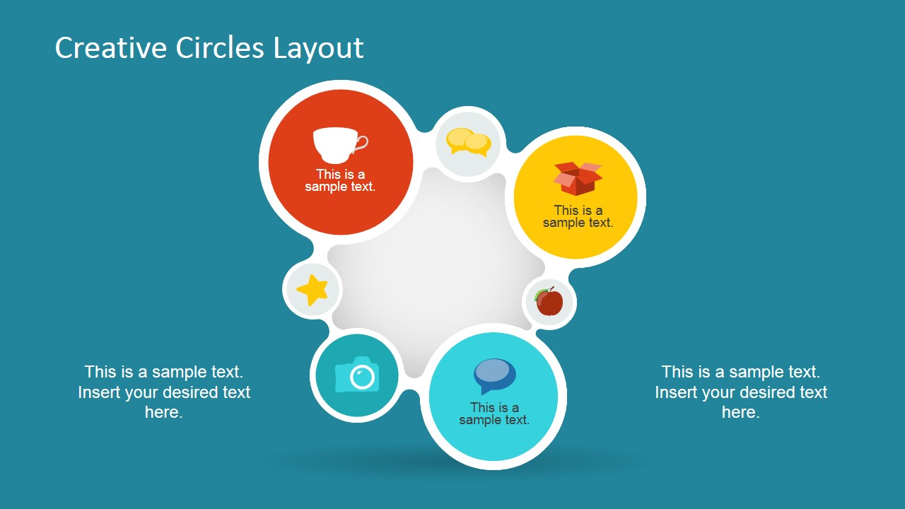 Creative Liquid Circles Powerpoint Diagram