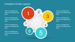 7 Steps Numbered Circular Flow for PowerPoint