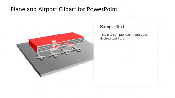 White Background PowerPoint Airport Clipart