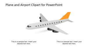 PowerPoint Clipart of Plane.