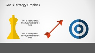 Strategy Shapes for PowerPoint Bishop, Goal and Arrow