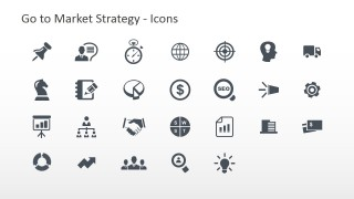 Go To Market Strategy PowerPoint Icons