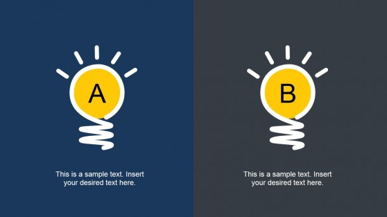 A or B Creative Slide to Present Opposing Ideas