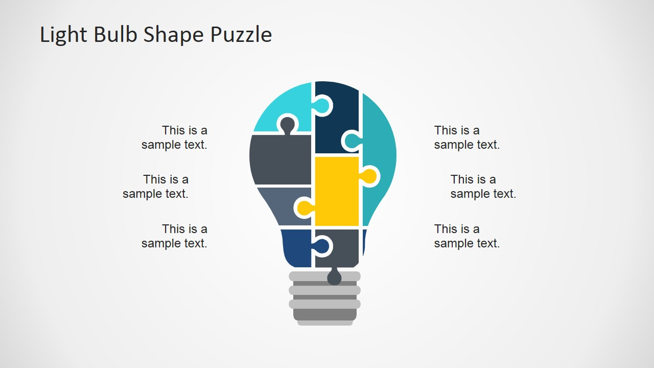 Flat Light Bulb Powerpoint Template Slidemodel Lighting Diagram Sample Previous Next
