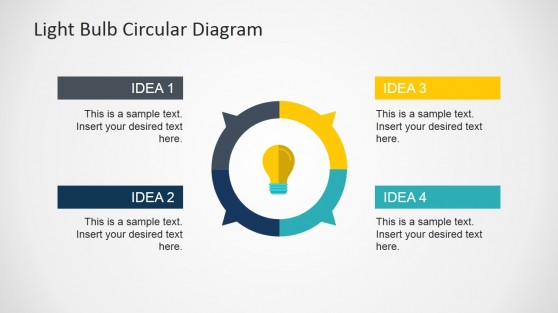 Creative Circular Diagram Light Bulb Slide