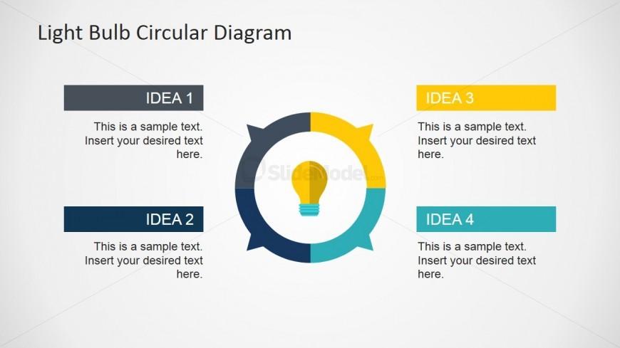Creative Circular Diagram Light Bulb Slide
