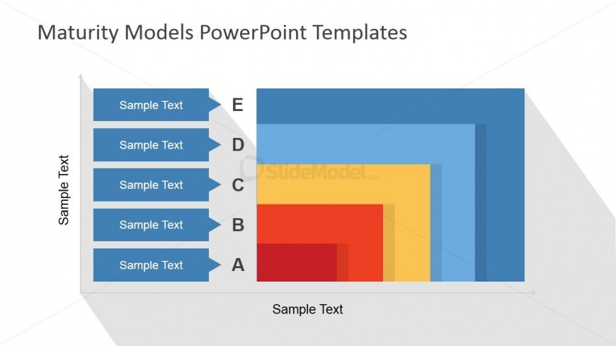 2D Flat Layered Maturity Model PowerPoint Design