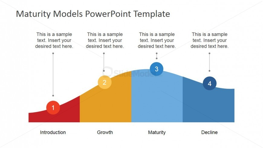 flat powerpoint product life cycle diagram   slidemodelflat powerpoint product life cycle diagram