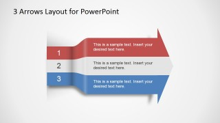 3 Arrows Text Layout Template for PowerPoint