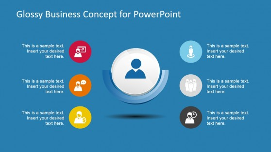 3D Business Glossy Icon for PowerPoint