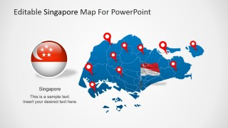 PowerPoint Map of Singapore Island State