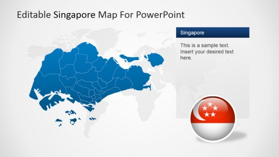 Singapore Political Outline PowerPoint Map