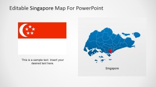 PowerPoint Maps and Flag Icon of the Republic of Singapore