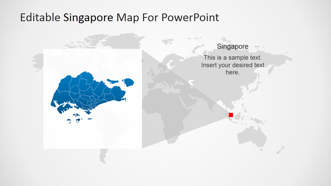 Editable Singapore Powerpoint Map Slidemodel