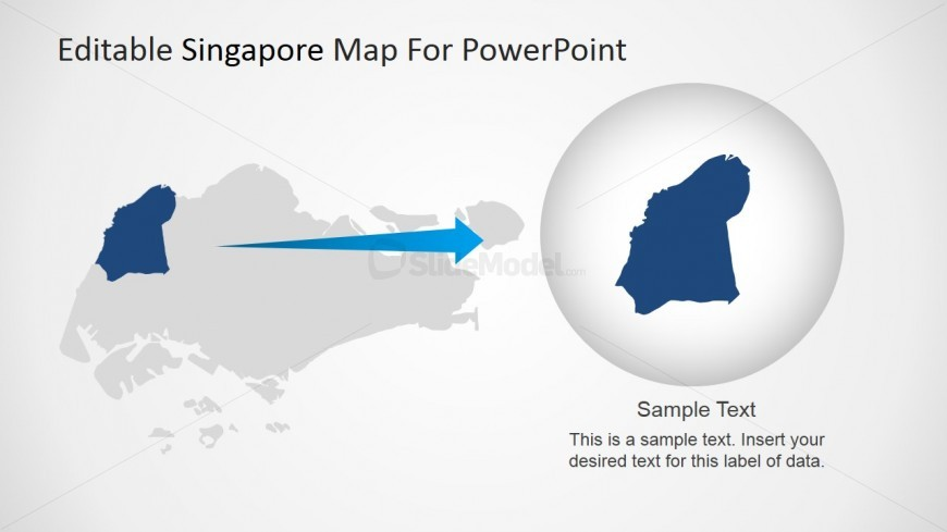 Highlighted Individual State in PowerPoint Singapore Map