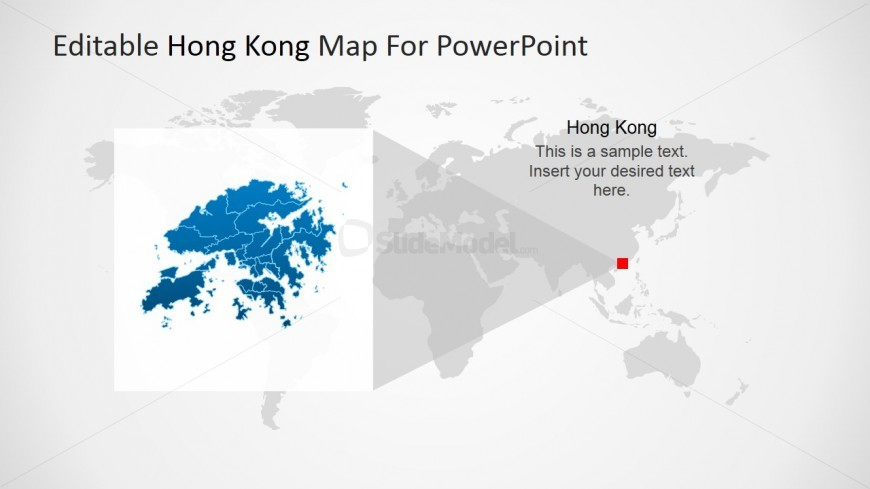 Hong Kong PowerPoint Map Extracted View