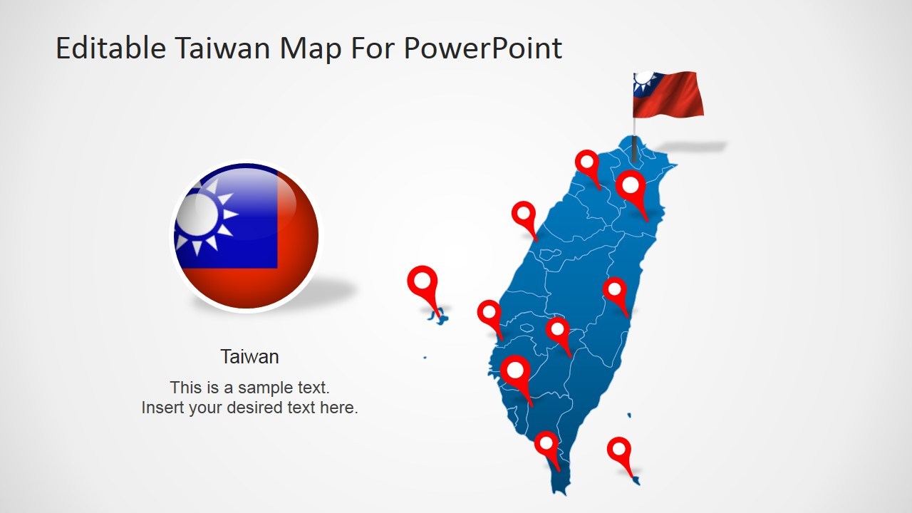 Taiwan Clipart with GPS Icons