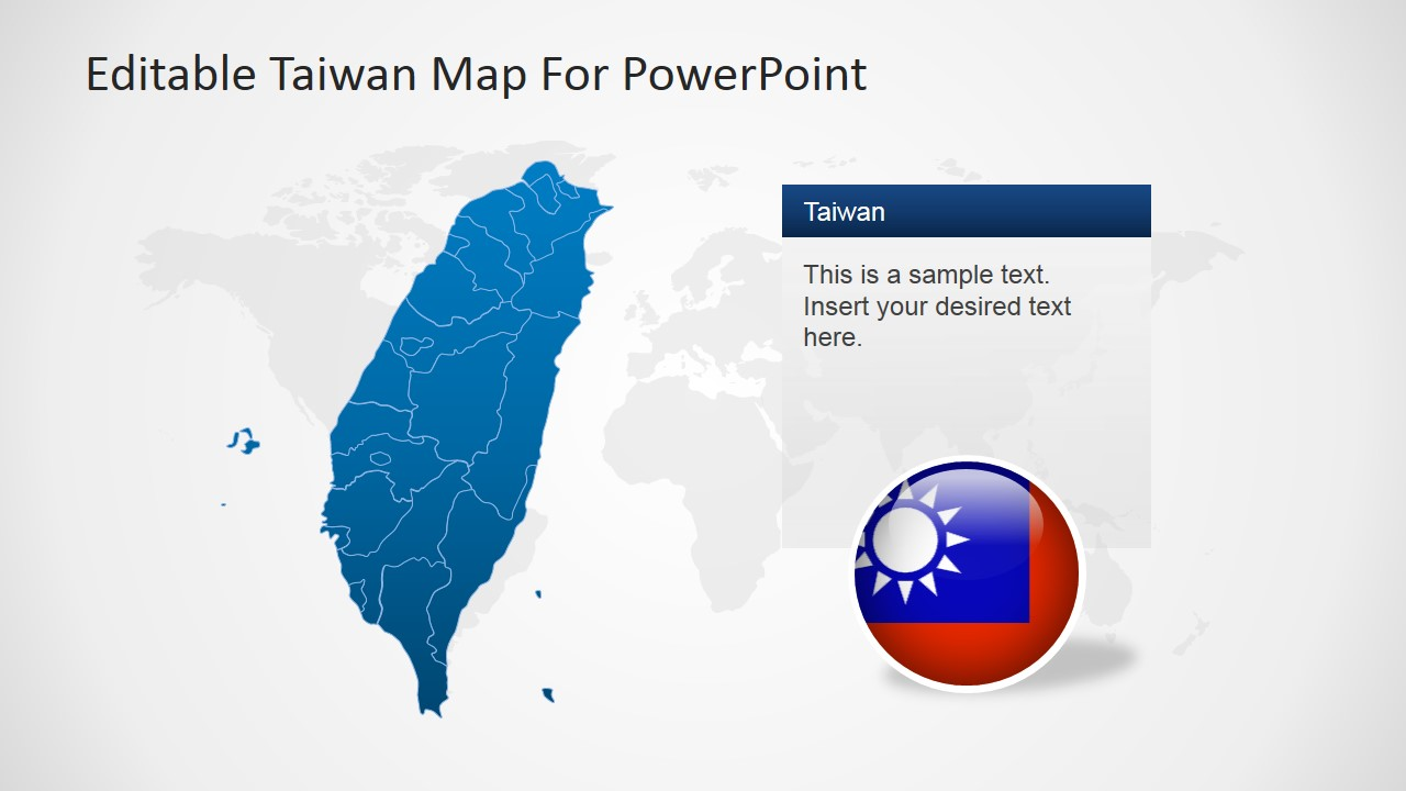 Map of Taiwan and Placeholder for PowerPoint