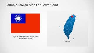 Taiwan Flag and Map for PowerPoint